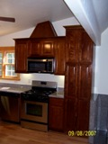 Walnut colored Maple flat Door RTA cabinets