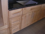 Natural Maple Shaker RTA Cabinets with 5 piece drawer