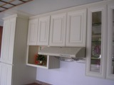 Antique White Alder raised panel RTA cabinets