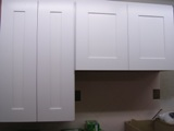 White Maple RTA shaker cabinets with one piece drawer front