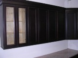 Espresso recessed panel Door RTA cabinets