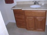 Natural American Cherry arched door RTA cabinets