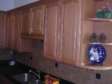Light Coffee Beech arched door RTA cabinets