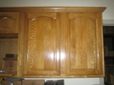 Honey Oak arched door builder grade RTA cabinets