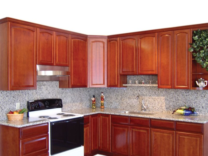 RTA Cabinet Broker - 5F Traditional Cherry arched Kitchen Cabinets ...