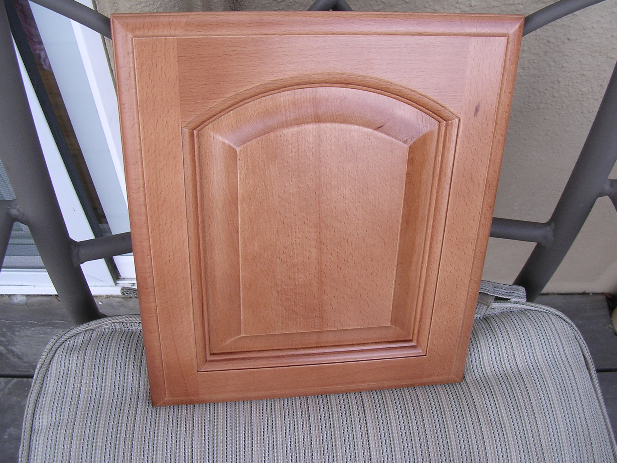 rta cabinet broker 5g light coffee colored beech arched door
