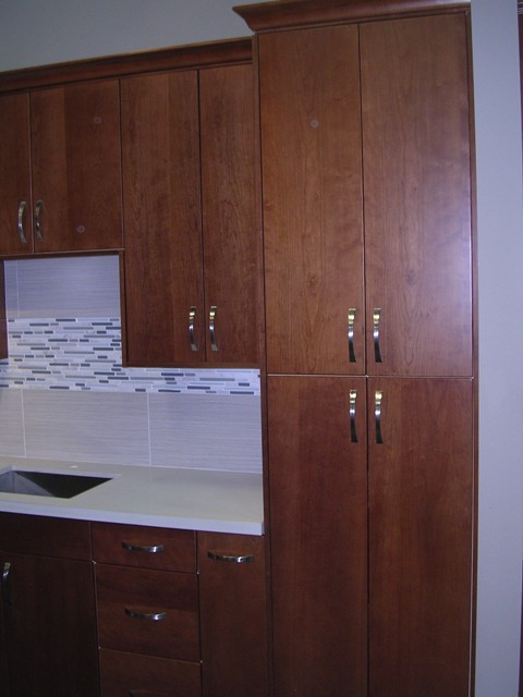 4f Discontinued Natural Cherry Flat Panel Kitchen
