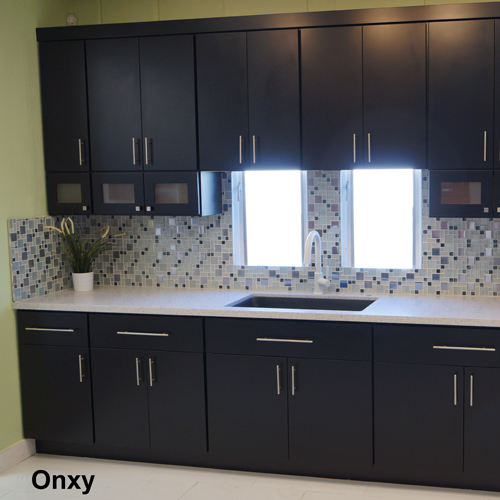 4g Black Slab Door Kitchen Cabinets Photo Album