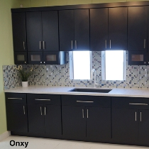 4g black slab door kitchen cabinets photo album for Kitchen cabinets 4g