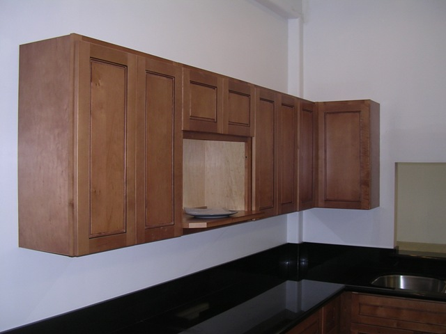 Cafe Colored Maple Flat Panel Cabinet · ** PLEASE DESCRIBE THIS IMAGE **