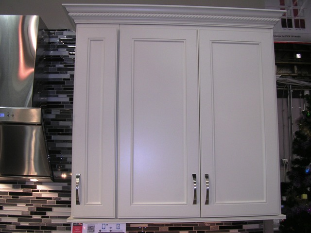White Kitchen Cabinets Particle Board Doors Arched Panel