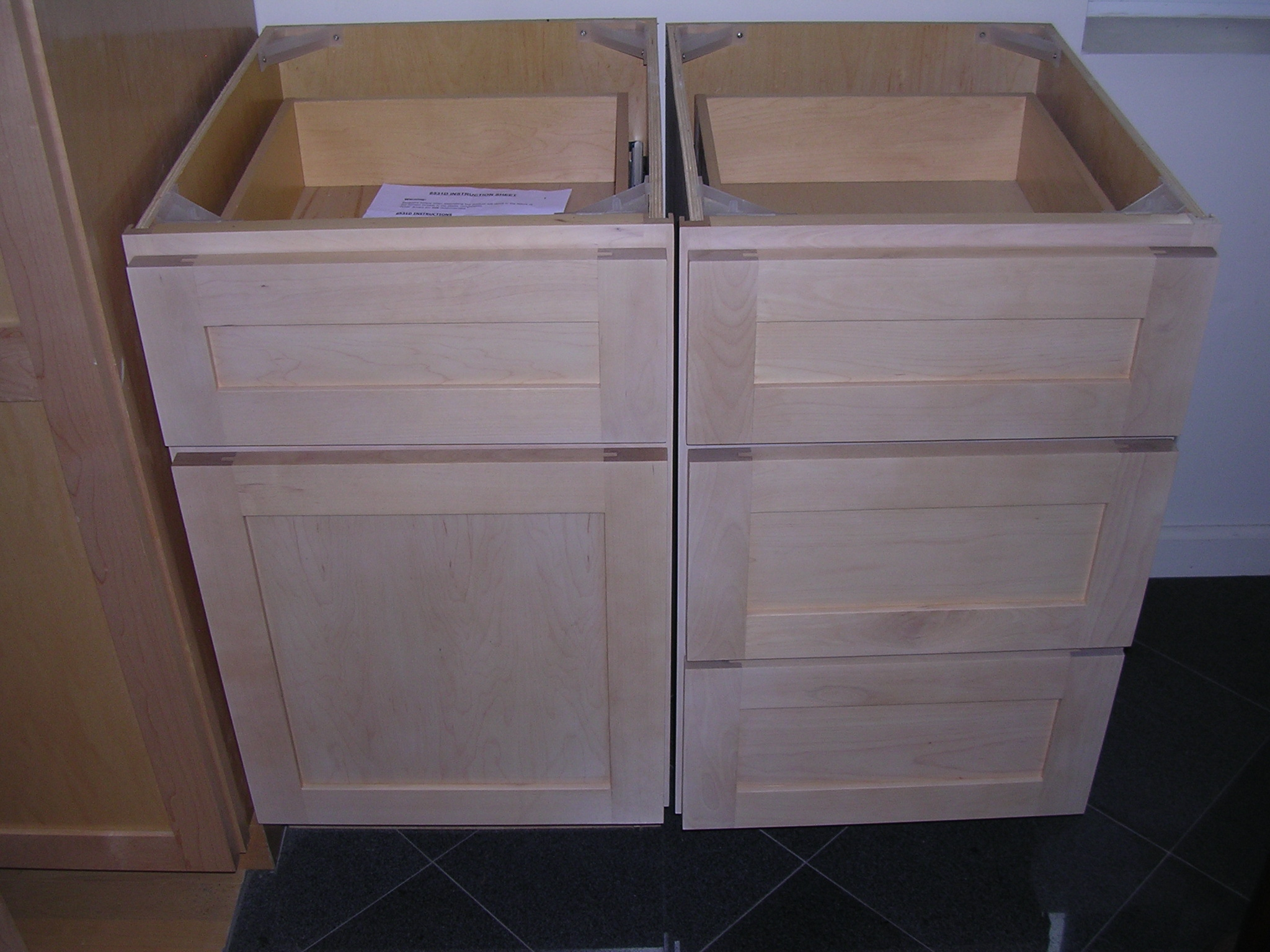 RTA Cabinet Broker - 1J Natural Maple 900N shaker Kitchen ...