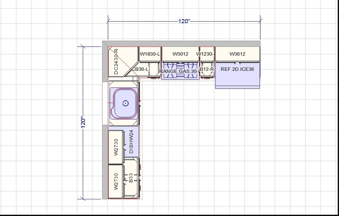 ... [TYPICAL KITCHEN LAYOUT, CLICK ON LINK TO VIEW PAGE] ...